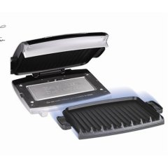 George Foreman GRP99 'The Next Grilleration Grill' with Removable Plates, Silver Metallic Finish
