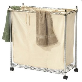 3-Compartment Chrome Laundry Sorter