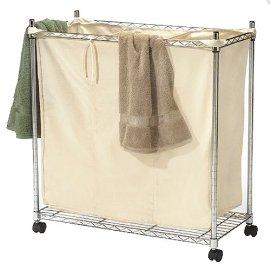 3-Compartment Chrome Laundry Sorter