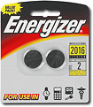 Watch/Keyless Remote Specialty 2016-3V Battery (2-Pack) - 2016BP-2