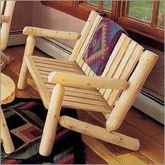 Cedar Log 4' Bench Seat
