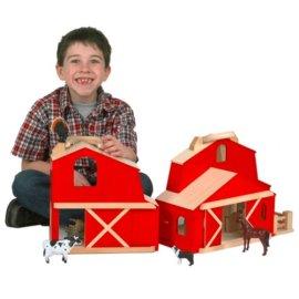 Portable Folding Barn with Farm Animals