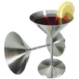 Stainless Steel Cocktail Glasses - Set of 2