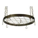 Round Pot Rack - Hammered Bronze, Brass