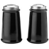 Round Black Salt and Pepper Set