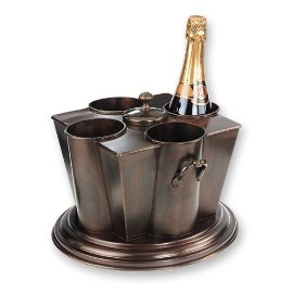Antique Copper 4-Bottle Wine Chiller