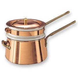 2-Qt. Copper and Ceramic Double Boiler
