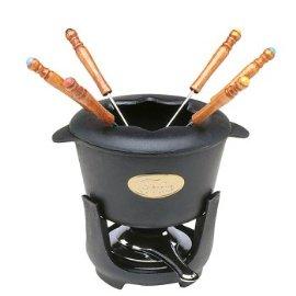 Norpro Black 10-pc. Cast iron Fondue Set
