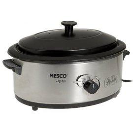 Nesco 6-Quart Roaster Oven, Non-Stick - Stainless Steel