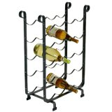 20 Bottle Wine Rack - Hammered Steel