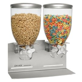 Double Stainless Steel Dry Food Dispenser