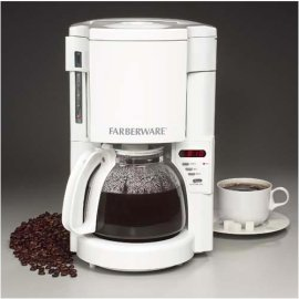 Farberware 10 Cup Programmable Coffeemaker - White