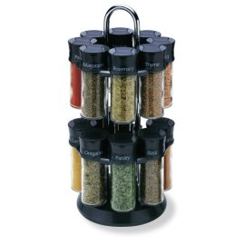 Old Thompston 16-Jar Revolving Filled Spice Rack