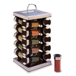 Old Thompson Revolving Stainless 20 Jar Spice Rack