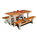 Flip Top Bench Table -- Sand
