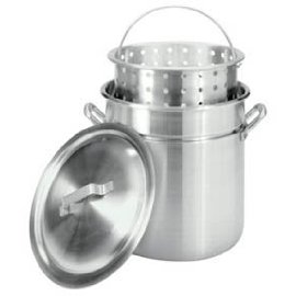 Bayou Classic Stockpot with Lid - 120-qt.