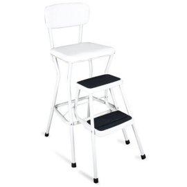 White Chair/Step Stool
