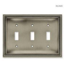 Beaded Triple Switch Wall Plate