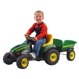 John Deere Farm Tractor with Trailer