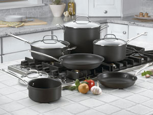 Cuisinart Chef's Classic Nonstick Hard-Anodized 10-Piece Cookware Set - Black