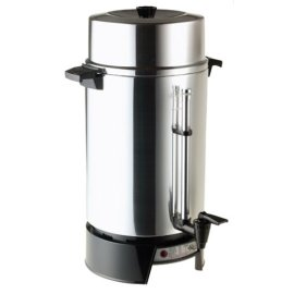 West Bend 33600 100-Cup Commercial Coffee Urn - Polished Aluminum