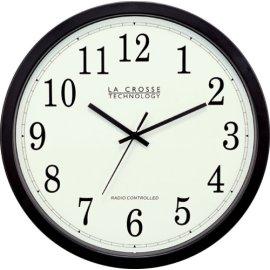 La Crosse Technology WT-3143A Atomic Wall Clock - Black