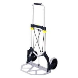 Safco(R) Medium-Size Stow-Away(TM) Hand Truck, 275 Lb. Capacity, 7 Wheels