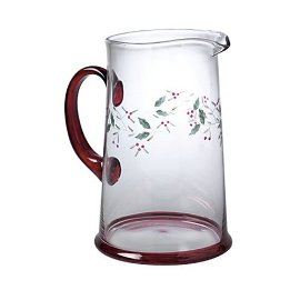 Pfaltzgraff Winterberry Etched and Hand Painted Pitcher