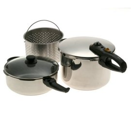Fagor Duo Combi Pressure Cooker set - stainless steel