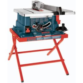 Bosch 4000 07 10 Worksite Table Saw With Folding Steel Stand Rear Outfeed Support And Left