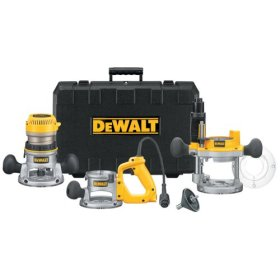 DeWalt DW618B3 2.25 HP 3-Base Router Kit