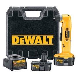 DEWALT DW960K-2 Heavy-Duty 3/8 18V Cordless Right Angle Drill Kit