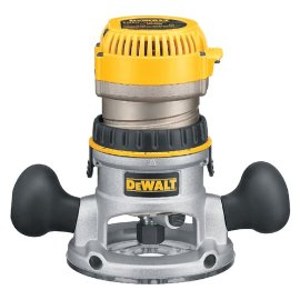 DEWALT DW618 2-1/4 HP Electronic Variable Speed Fixed Base Router with So' Start