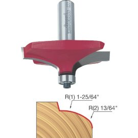 Freud 99-027 2-19/32 Diameter Table Edge Thumbnail Router Bit with 1/2 Shank