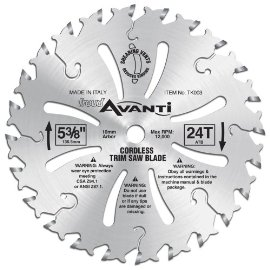 Freud TK003 5-3/8 24-Tooth Trim Saw Blade
