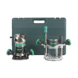 Hitachi KM12VC 2-1/4 HP Variable Speed Router Kit with Fixed and Plunge Bases