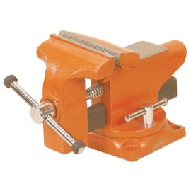 Adjustable Clamp 24545 Pony Light-Duty Bench Vise with Swivel Base