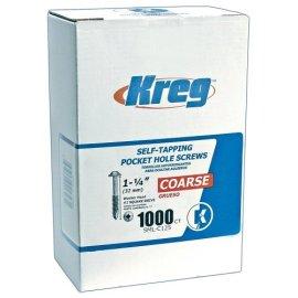 Kreg SML-C125 1-1/4 #7 Coarse Screw (1000-Pack)