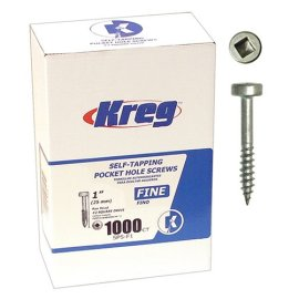 Kreg SPS-F1-1000 Pocket Hole Screws 1 #6 Fine Pan-Head 1000ct