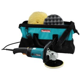 "Makita 9227CX3 7"" Electronic Sander-Polisher with Tool Bag, Compound and Polishing Pads"