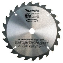 Makita A85092 6-1/2 Carbide Blade 24T