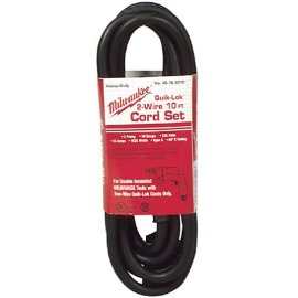 Milwaukee 48-76-5010 10' Quik-Lok Cord, 2-Wire