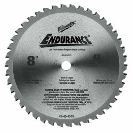 Milwaukee 48-40-4515 Circular Saw Blade 8 in. 42 Tooth Dry Cut Cermet Tipped