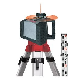 Porter-Cable RoboToolz RT-5250-2XPKT High-Powered, Auto Leveling Level and Manual Plumb Rotational Laser with New 123 Tripod and 9' Grade Rod Kit