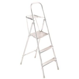 Werner 265 Aluminum Platform Ladder, 200 Pound Rated