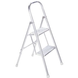 Werner 244 Aluminum Utility Ladder, 200 Pound Rated