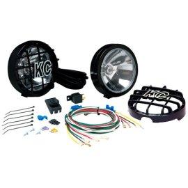 KC HiLites SlimLite Black Halogen Fog Light System #127
