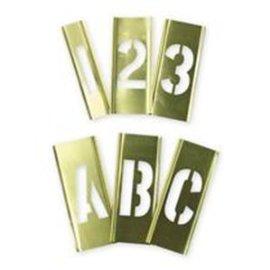 Ch Hanson #10151 2 92 Pc Brass Letter & Figure Stencil Set