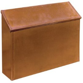 Standard Horizontal Mailbox – Antique Brass