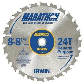 IRWIN 14050 Marathon 8-1/4, 24-Tooth General Purchase Circular Saw Blade